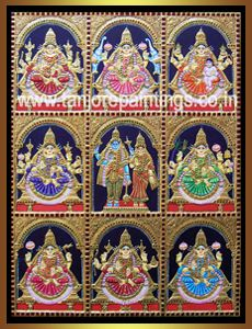Lakshmi : Tanjore Paintings!, Traditional Tanjore Paintings, Oil Paintings, Reverse Glass Paintings, Stain Glass Paintings, Gift Articles and All interior solutions.