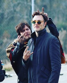 "Greg Nicotero on Instagram: ""Found this pic I took while shooting the season 3 finale ! Sorry David. @davidmorrissey @bigbaldhead #amcthewalkingdead"""