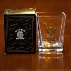"""2002 shot glass was part of the Legends of Jack Daniels series. Full lead crystal made in the Czech Republic. Shop at The Whiskey Cave where """"We Know Jack"""". Jack Daniels Gifts, Jack Daniels Whiskey, Home Bar Decor, Alcohol Bottles, Bartender, Whisky, Shot Glass, Halloween Vampire, Number 7"""