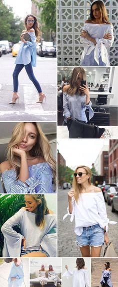 Aliexpress.com: Comprar Simplee Ropa Elegante arco azul del hombro mujer camisa de la blusa Atractiva del verano 2016 niñas blusa blanca Mujeres tops blusas de rayas de blusa de lentejuelas fiable proveedores en Simplee Apparel