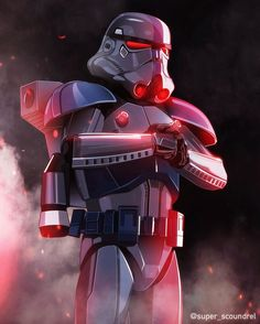 All hail 🙌🏻 OG caption > ・・・ Dark Trooper illustration. Based on a badass custom battlefront 2 skin by He does amazing models so y'all should check out his other work! Star Wars Fan Art, Star Wars Concept Art, Star Wars Clone Wars, Cuadros Star Wars, Star Wars Images, Star Wars Wallpaper, Illustrators On Instagram, Star Wars Collection, The Villain