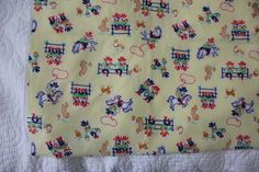 Vintage Yellow Cowboys or Western Themed Print by SupplyingVintageLove on Etsy