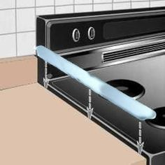 Something you never knew you couldn't live without -- a metal trim piece to prevent food crumbs from falling between your stove and countertop!