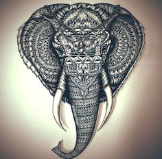 Faye Hallidays drawing of an elephant.. Love it