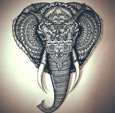 Faye Hallidays drawing of an elephant.. Love it