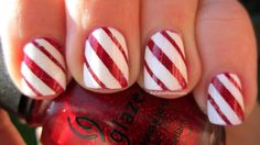 The Polished Paramedic: Holiday How-To: Candy Cane nails!