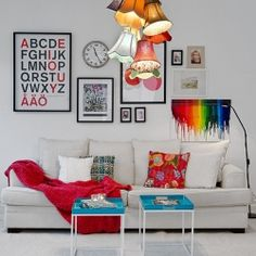 Tour this charming bright and colorful Swedish flat, chalk full of fabulous design ideas!