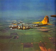 """B-17 NICE SHOT…""""A Bit 'O Lace""""…the navigator is Bud Eisenhart and we are close friends to this day"""