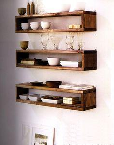 Easy wood box shelf ideas that you can DIY