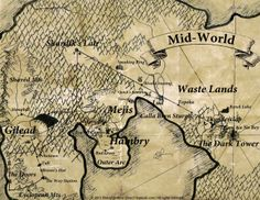 A map of Mid World from the dark tower series by Stephen King.