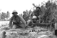 1st Air Cavalry Division/Vietnam | Troopers with the 1st Cavalry Division return fire with an M-60