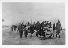 Cracow, Poland, Local Jews being deported to the ghetto.