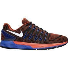 Nike Air Zoom Odyssey Mens Running Shoes 15 Black Crimson Racer Blue 749338 004…