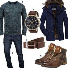 Herren-Style mit Parka, Tommy Hilfiger Gürtel und Uhr (m0677)