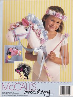 Vintage McCall's Creates Sock Pony HOBBY HORSE by TheOldOwl