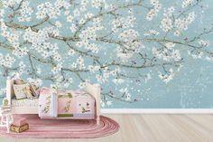 April Breeze I Teal - Decoration Murale & Papier Peint Photo - Photowall