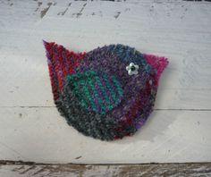 HarrisTweed-Handmade-Bird-Brooch-Tartan-Wool-Scottish-Gift-Mothers-Day