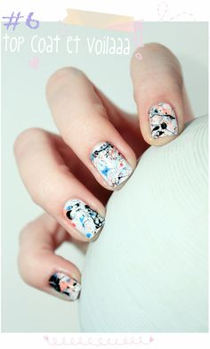 Splatter nails #nailart #colorful #mani #Polish - bellashoot.com