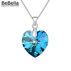 BeBella Crystal Heart Pendant