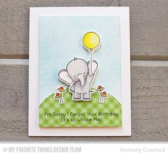 Adorable Elephants, Swiss Dots Background, Adorable Elephants Die-namics, Rectangle STAX, Set 1 Die-namics, Stitched Oval STAX Die-namics - Kimberly Crawford  #mfstamps