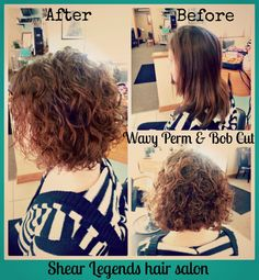 Wavy Perm & Bob Cut; Shear Legends hair salon Saginaw MI; Spring / Summer hair