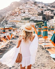 Leonie Hanne in Positano, Italy Oh The Places You'll Go, Places To Travel, Travel Destinations, Cinque Terre, Wanderlust Travel, Travel Goals, Travel Style, Girl Travel, Ohh Couture