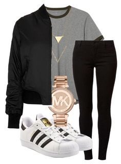 """falls outfit IG - @kingrabia"" by rabiamiah on Polyvore featuring L.L.Bean, Dorothy Perkins, adidas Originals, Michael Kors and Topshop"