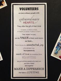 [Kids and parenting]Teacher Appreciation Gift Ideas quotes Volunteer Appreciation Gifts, Volunteer Gifts, Appreciation Quotes, Volunteer Ideas, Employee Appreciation, Volunteer Week, Volunteer Groups, Thank You Volunteers, School