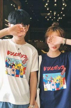 Bonne Nuit - Couple Short-Sleeve Printed T-Shirt #couplefashion #matchingoutfit #tshirt