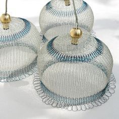 fine wire crocheted lampshades