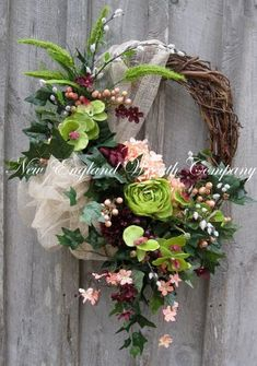 Spring Wreath, Easter Wreath, Victorian Wreath, Tuscany Wreath, Designer, Elegant Wreath, Floral Wreath, Garden Wreath by NewEnglandWreath on Etsy https://www.etsy.com/listing/185443702/spring-wreath-easter-wreath-victorian