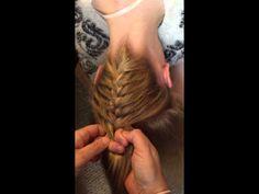 Upside down French braid ponytail tutorial. - YouTube