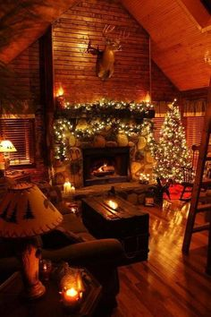 5 Best Decor Ideas for Your Fireplace – Voyage Afield Christmas Fireplace, Cozy Christmas, Country Christmas, Cabin Christmas Decor, Xmas, Christmas Photos, Beautiful Christmas, Christmas Scenes, Christmas Lights