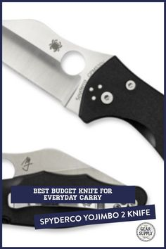 Looking for the best budget for everyday carry? Try the Spyderco Yojimbo 2 Knife with G-10 handle for your urban everyday carry gear. Take advantage of this money-saving deal on everyday carry premium pocket knives while supplies last! Explore top-rated budget-friendly compact lightweight utility knives and other essential EDC gear at affordable prices from Gear Supply Company. #everydaycarry #edcknives #pocketknives #urbaneverydaycarry Urban Carry, Urban Edc, Edc Carry, Carry On, Edc Fixed Blade Knife, What Is Edc, Prepper Supplies, Edc Essentials
