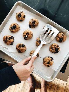 Breakfast Cookies on baking sheet after baking.