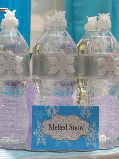 Frozen Party ideas. MELTED SNOW. New Queen Frostine Party from My Princess party to Go. http://www.myprincesspartytogo.com #disneyfrozenparty #frozenpartyideas