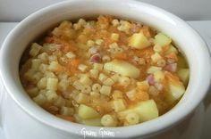 Minestra di ditalini con zucca e patate | Ricetta