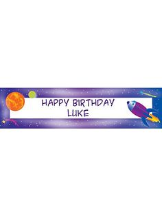 Space Personalized Banner