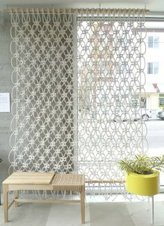 INSPIRATION: Macrame Screen.