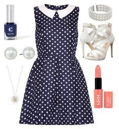 """""""Loving today"""" by reynah4224 ❤ liked on Polyvore featuring Lipsy, John Lewis, GUESS, Honora, NYX and Daisy Jewellery"""