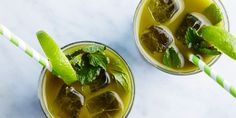 Matcha in the morning, matcha at night, matcha all through the day! This lime-mint-matcha combo is a great morning or afternoon pick-me-up, or add a splash of rum for a bright and refreshing cocktail.