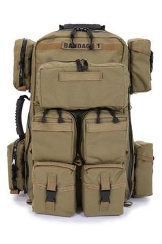 R & B Fabrications Inc. Tactical Medic Rescue Backpack with Pouches.