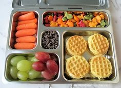 10 Non-Sandwich School Lunch Ideas In Planetbox Cream cheese mini waffles breakfast for lunch in Planetbox Kids Lunch For School, Healthy Lunches For Kids, Toddler Lunches, Bento Box Lunch For Kids, Kids Meals, Healthy Snacks, Healthy Eating, Lunch Kits, Clean Eating