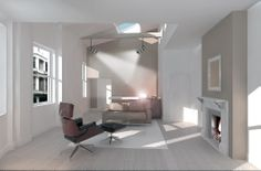 Grosvenor Street - London - FLETCHER CRANE ARCHITECTS London Fletcher, Kingston Upon Thames, Crane, Modern Architecture, Architects, Contemporary, Street, House, Furniture