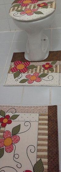 Jogo de Banheiro | ArtesAna Artesanato | Elo7