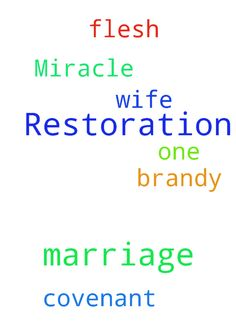 Marriage Restoration Miracle -  Please pray for the restoration of my covenant marriage with Brandy my one flesh wife  Posted at: https://prayerrequest.com/t/2NN #pray #prayer #request #prayerrequest