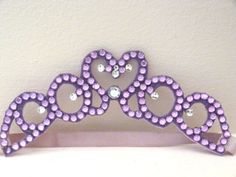 Hey, I found this really awesome Etsy listing at https://www.etsy.com/listing/163188164/purple-tiara-headband-plum-princess-1st