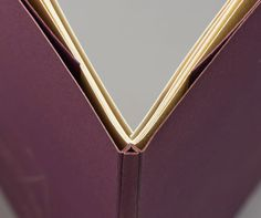 A Little Treachery by Libby Houston bound by Tracey Rowledge // spine detail of 2-part paper pamphlet
