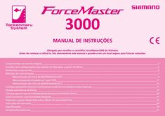 Manual carretilha Shimano Force Master 3000 português