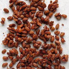 """Crunchy, cinnamon almonds are a spectacular treat to bring to a party or gathering. """"They taste just like the cinnamon roasted almonds you get at the fair,"""" says Janice Thompson from Stacy, Minnesota. Cinnamon Roasted Almonds, Toasted Almonds, Roasted Nuts, Pecans, Christmas Snacks, Christmas Appetizers, Christmas Eve, Christmas Candy, Holiday Treats"""